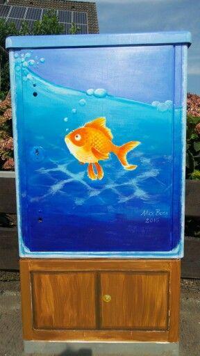 "Mein Beitrag zu ""Kunstrom Kerken 2015"" / my painted power box by the project "" art-power Kerken 2015"""