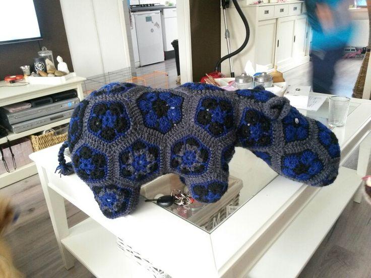 Nijlpaard gehaakt