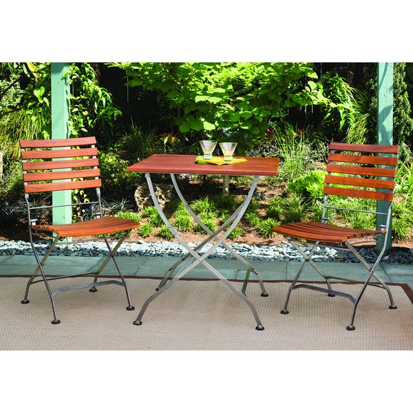 Phat Tommy Galleria Square Table W/ Galleria Folding Chairs By Phat Tommy.  Outdoor Wood FurniturePatio ...