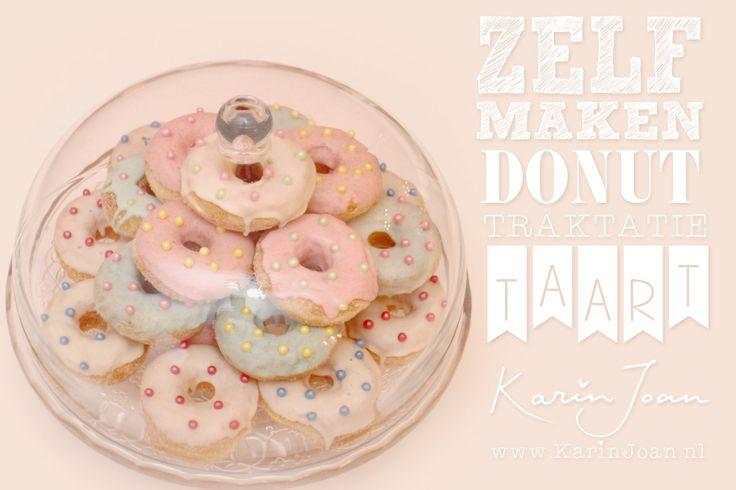 Karin Joan: Pastel mini-Donuts Taart / pie