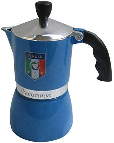 Bialetti: Fiammetta Nazionale 3-Cups - Official Product by Italian Soccer Team [ Italian Import ] - http://teacoffeestore.com/bialetti-fiammetta-nazionale-3-cups-official-product-by-italian-soccer-team-italian-import/
