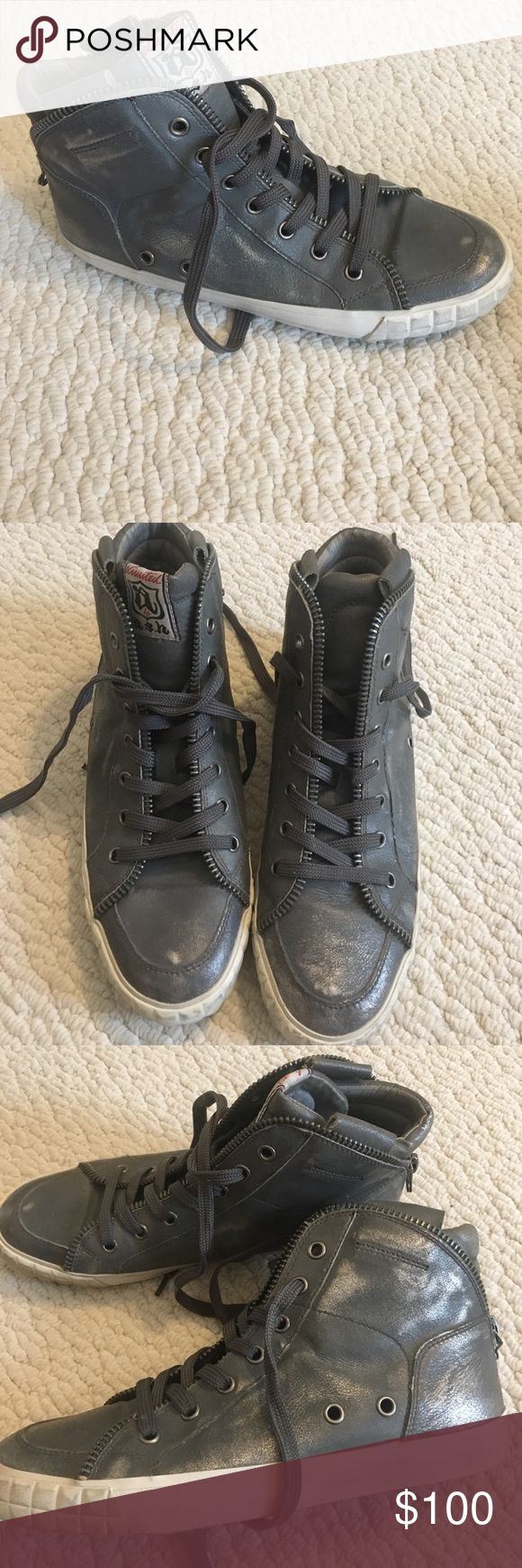 Ash sneakers. high tops. Size 39 (9) Ash gray high tops. Brand new. Size 9 gray Ash Shoes Sneakers