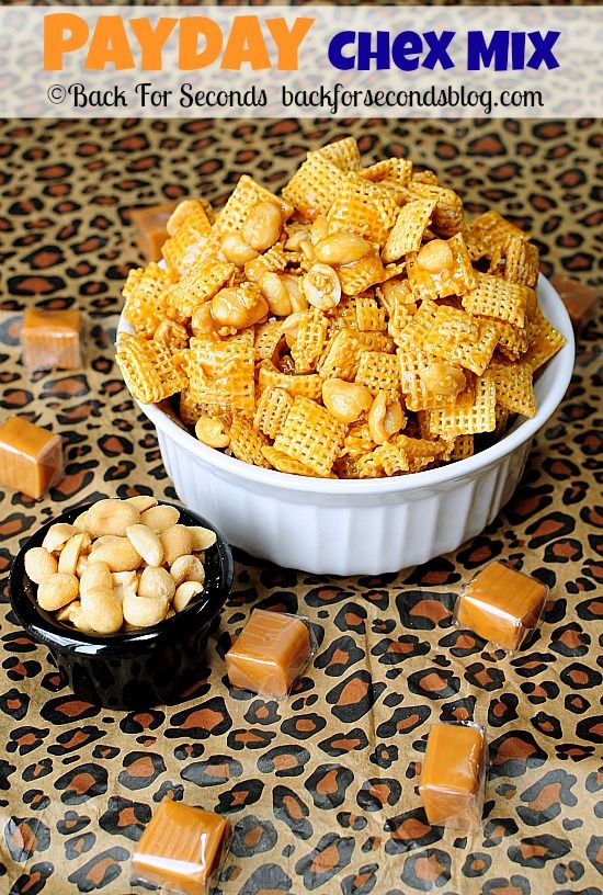 PAYDAY Chex Mix - Made in 5 MINUTES!! #recipe #nobake #payday #chexmix