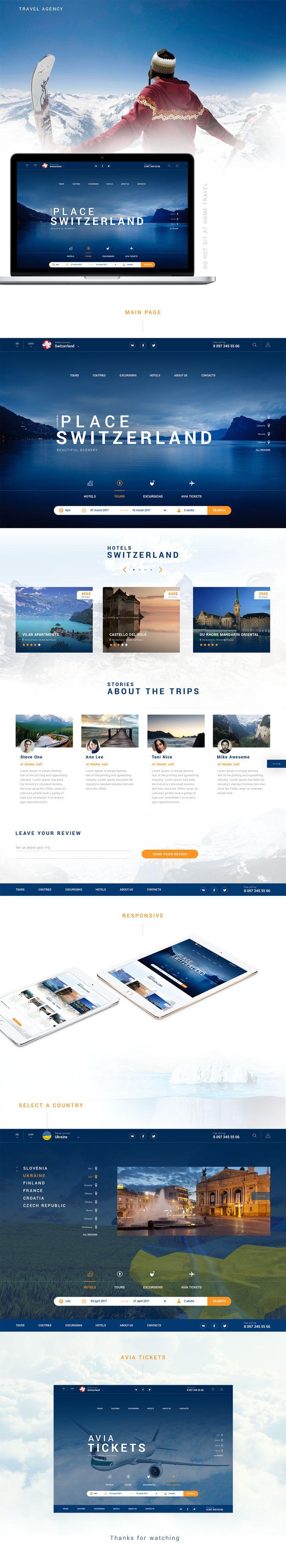 다음 @Behance 프로젝트 확인: \u201cTravel agency\u201d https://www.behance.net/gallery/48234591/Travel-agency