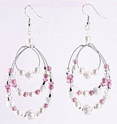 Jewelry Making Idea: Moonlight Blush Earrings. I am pretty sure my mom could make these will have to see if she excepts the challenge one day. Lol