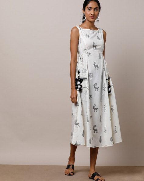 cbe42ddaa2867 Buy White Dresses & Gowns for Women by Indie Picks by AJIO Online | Ajio.com