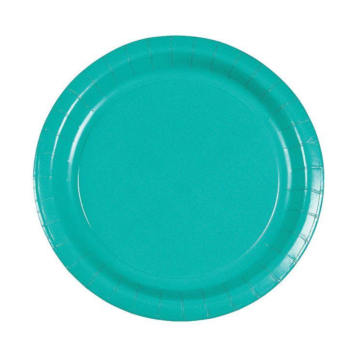 Tropical Teal Dinner Plates - OrientalTrading.com
