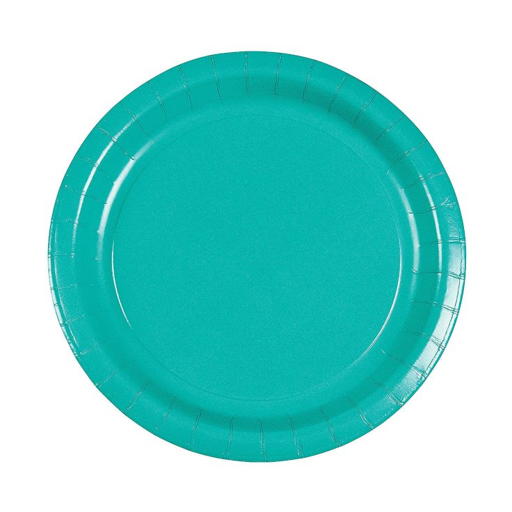 Tropical+Teal+Dinner+Plates+-+OrientalTrading.com