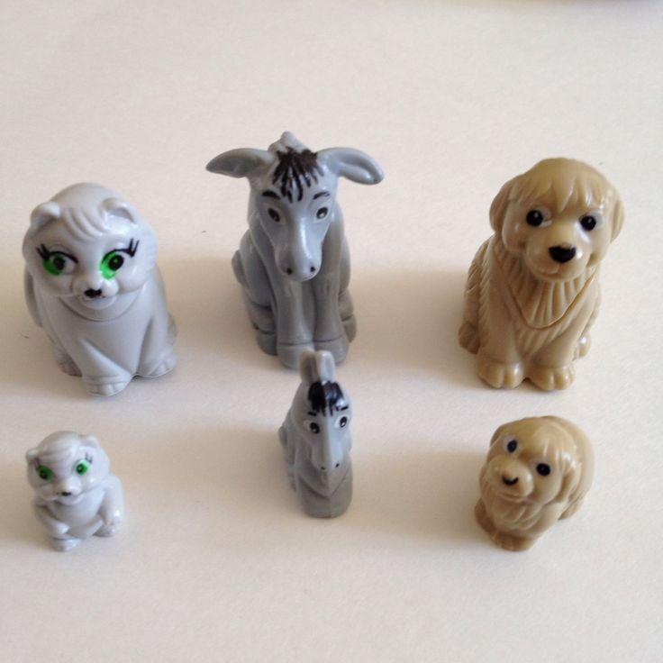 Lot Kinder Surprise Nesting Toys Donkeys Cats Dogs Mini Pocket Toys 1998 Ferrero   eBay