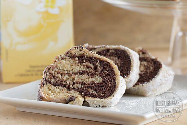 vegan marbled bundt cake