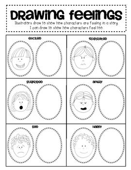 Writing Workshop: Mini Lesson on adding details! - I Can Draw Character to show how a character is feeling. $