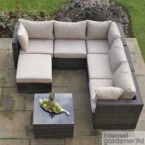 Maze Rattan London Outdoor Corner Sofa Set