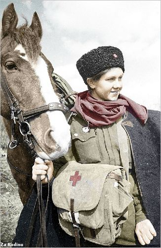 Russian lady soldier   Flickr - Photo Sharing!