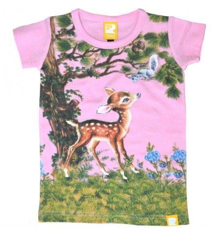 Little Deer Short Sleeve T-Shirt Pink Rock Your Baby