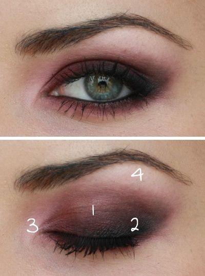 Day Eyeshadow Tutorial: Maroon Smokey Eye Make-up #CollegeColors