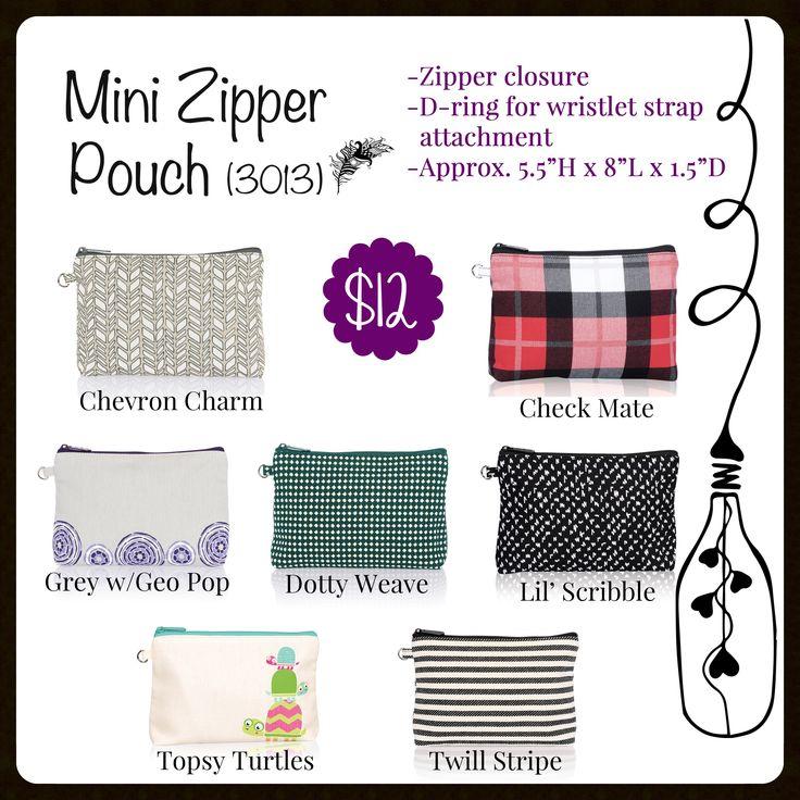 Mini Zipper Pouch, Thirty-One, Fall 2017 www.mythirtyone.com/carrieblackman