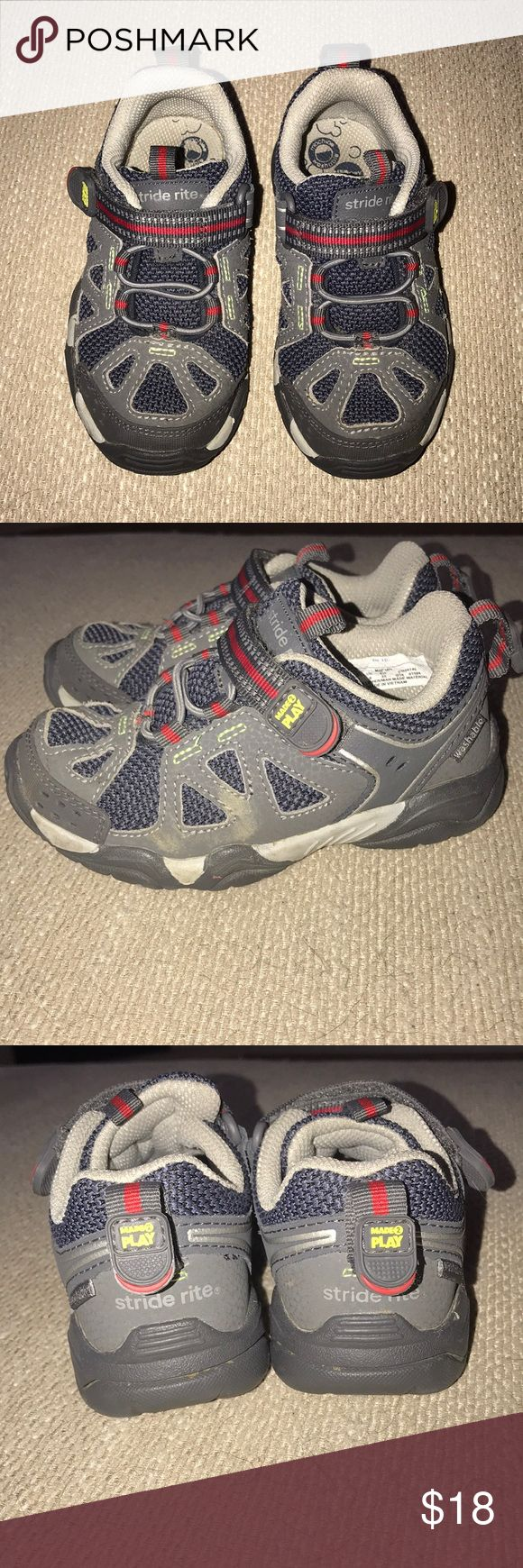 Stride Rite Boys Made 2 Play Sneakers Very gently worn. (Maybe 2-3 times) Slip-on Made 2 Play sneakers with Velcro closure. By Stride Rite. Toddler Size 9M. Stride Rite Shoes Sneakers
