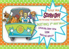 scooby doo birthday invitations