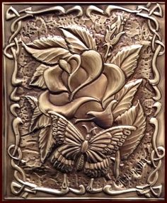 Rose & Butterfly - Metal Embossing