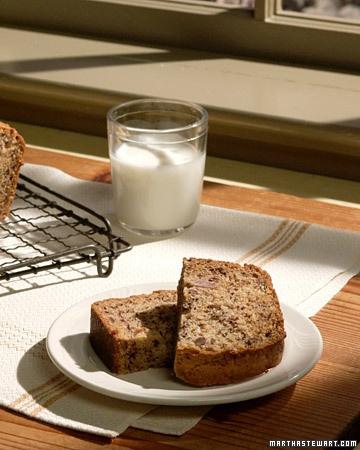 Saw Martha make this with Hugh Jackman, and it looked so good--both Hugh and the banana bread!