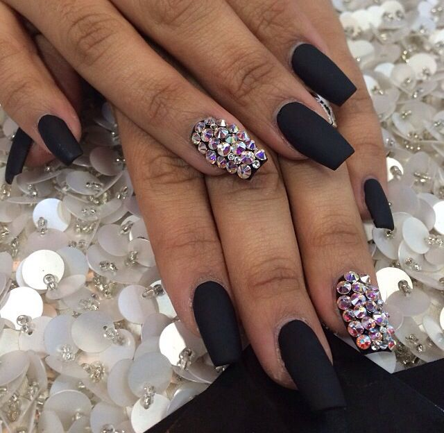 matte black and bling