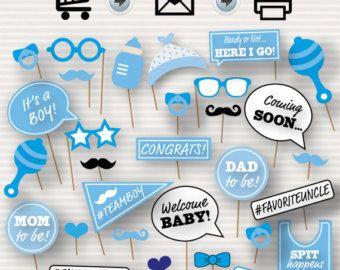 Baby Shower Printable Photo Booth Props Baby por SurpriseINC