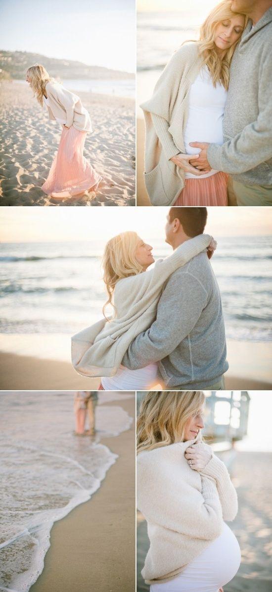 gorgeous maternity shoot on the beach