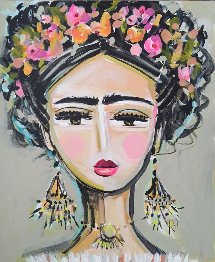 A personal favorite from my Etsy shop https://www.etsy.com/listing/270865221/frida-kahlo-painting-roses-pretty