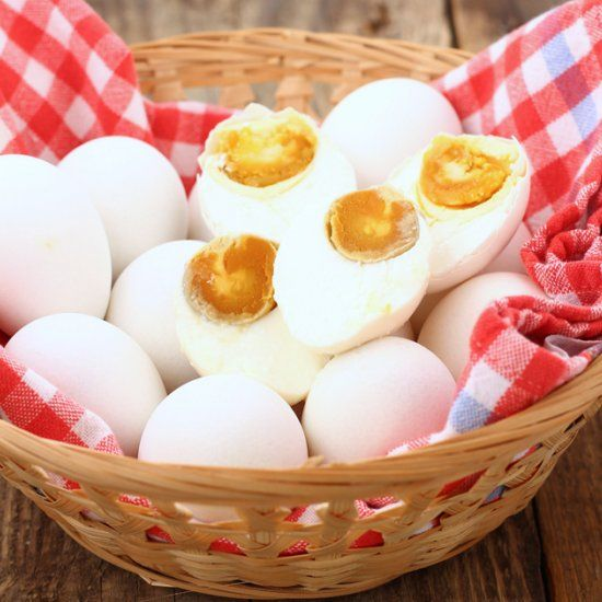 Learn how to make salted eggs, using only brine solution.