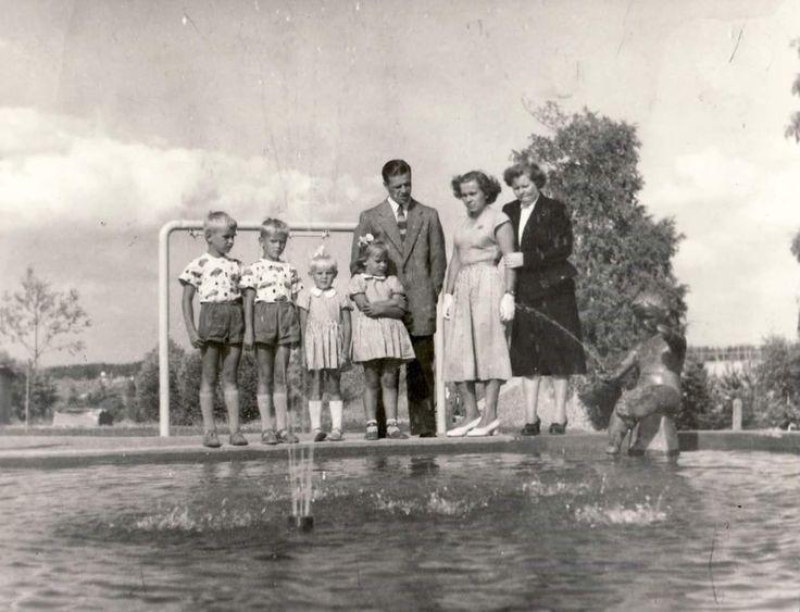 Imatran koskipuisto 1954, tai 1955