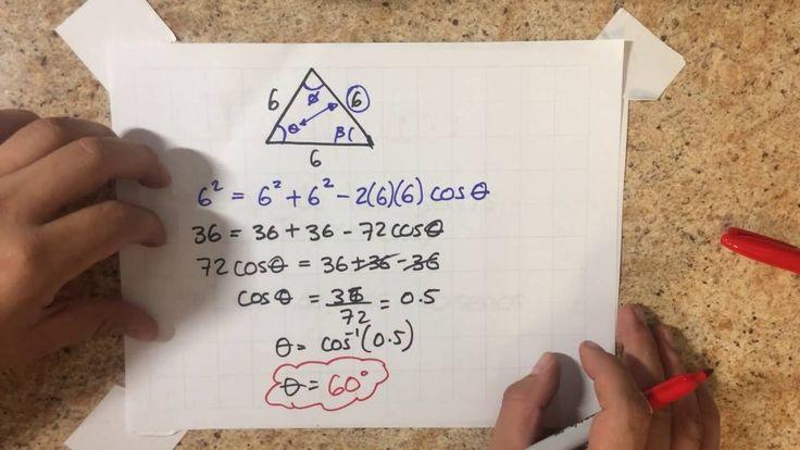 ▲ Explicación Triángulos 4 ☑ Ley de los Senos, Ley de los Cosenos  (ᵔᴥᵔ)