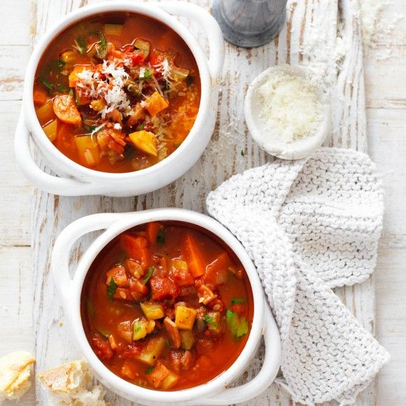 Hearty Veggie and Bacon Soup
