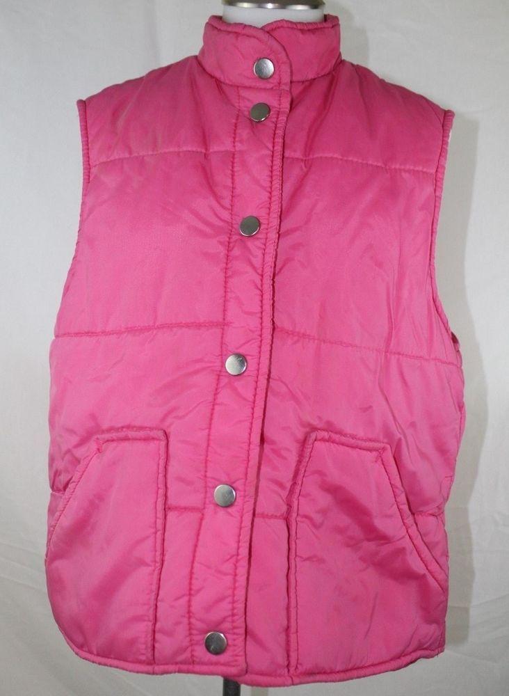 Youth Park Hot Pink Vest Puffy Jacket Size Large #YouthPark #Vest