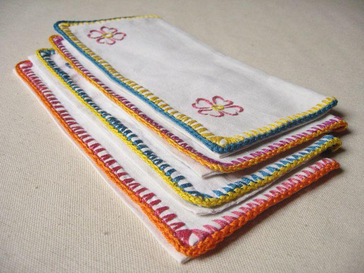 1000 id es sur le th me fleurs color es sur pinterest - Porte serviette de table ...