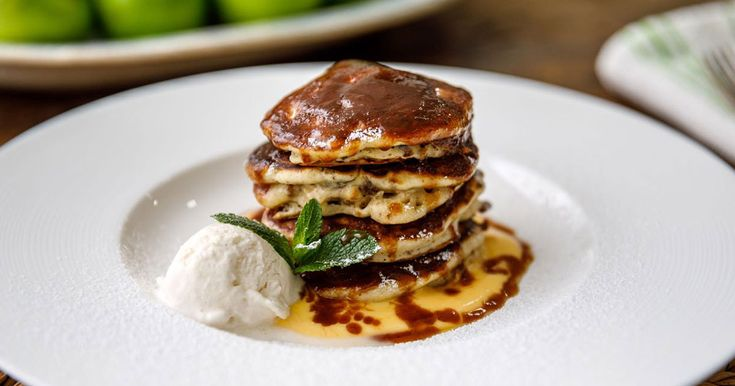Festive pancakes drizzled in homemade syrup? Sign us up!