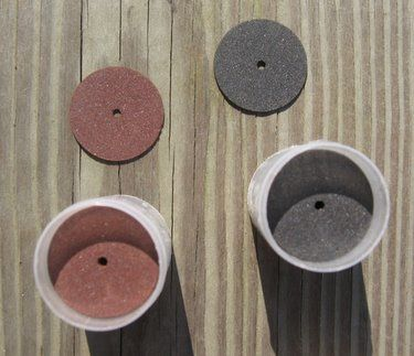 Cutting  There are different types of cutting wheels for different materials.  Dremel cut-off wheels   Abrasive cutting wheels can be used with the following materials:  Bookboard Plexiglass Wood