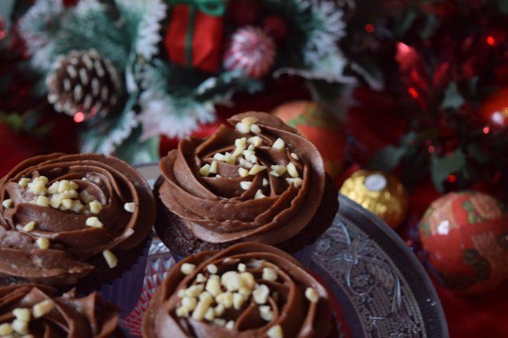 Cupcakes de Ferrero Rocher. Repostería Tximeleta.