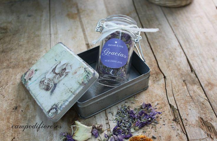 Popurri floral aromático de Campo di fiore. Perfecto para bodas y eventos. #bodas #wedding #favors #lavender #popurri #flores #flowers #detalles #invitados #regalos