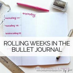 What is a rolling week layout and how can I use it in my bullet journal? Find out how I'm setting it up!