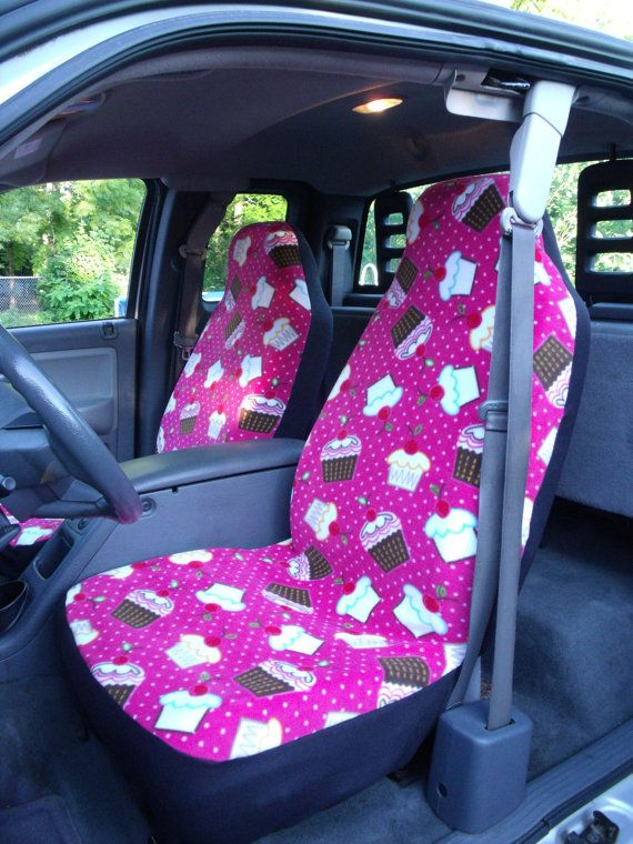1 Set Of Cupcake Cherry Print Car Seat Covers And By ChaiLinSews