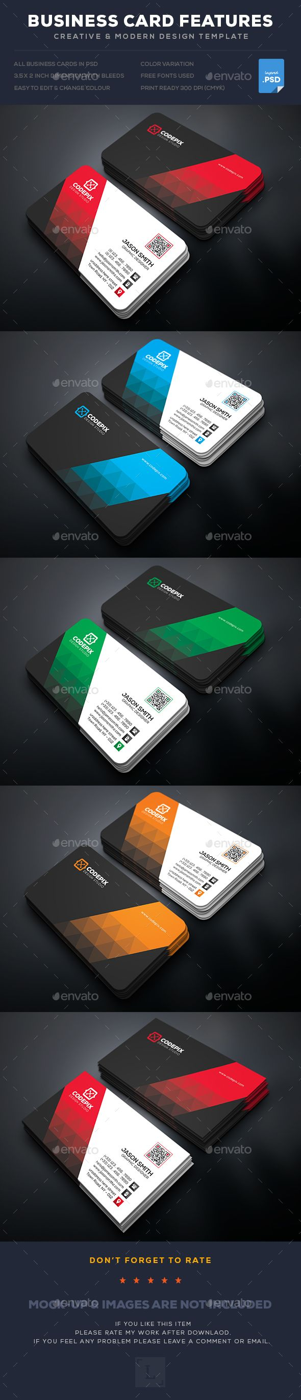 Business Card Template PSD. Download here: https://graphicriver.net/item/business-card/17341528?ref=ksioks