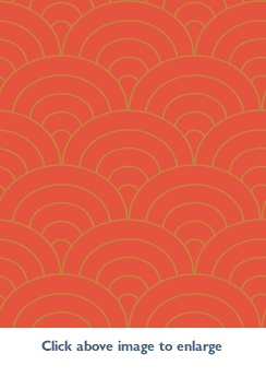 Carlisle Shand Kydd Wallpaper   Orange And Gold Scalloped, Art Deco
