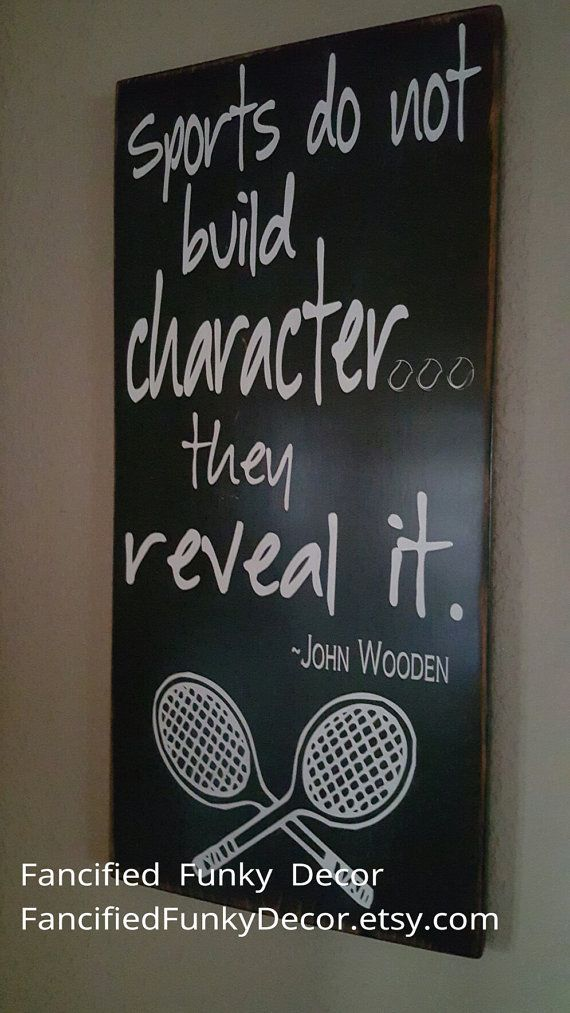 Tennis Decor John Wooden Sports Tennis by FancifiedFunkyDecor