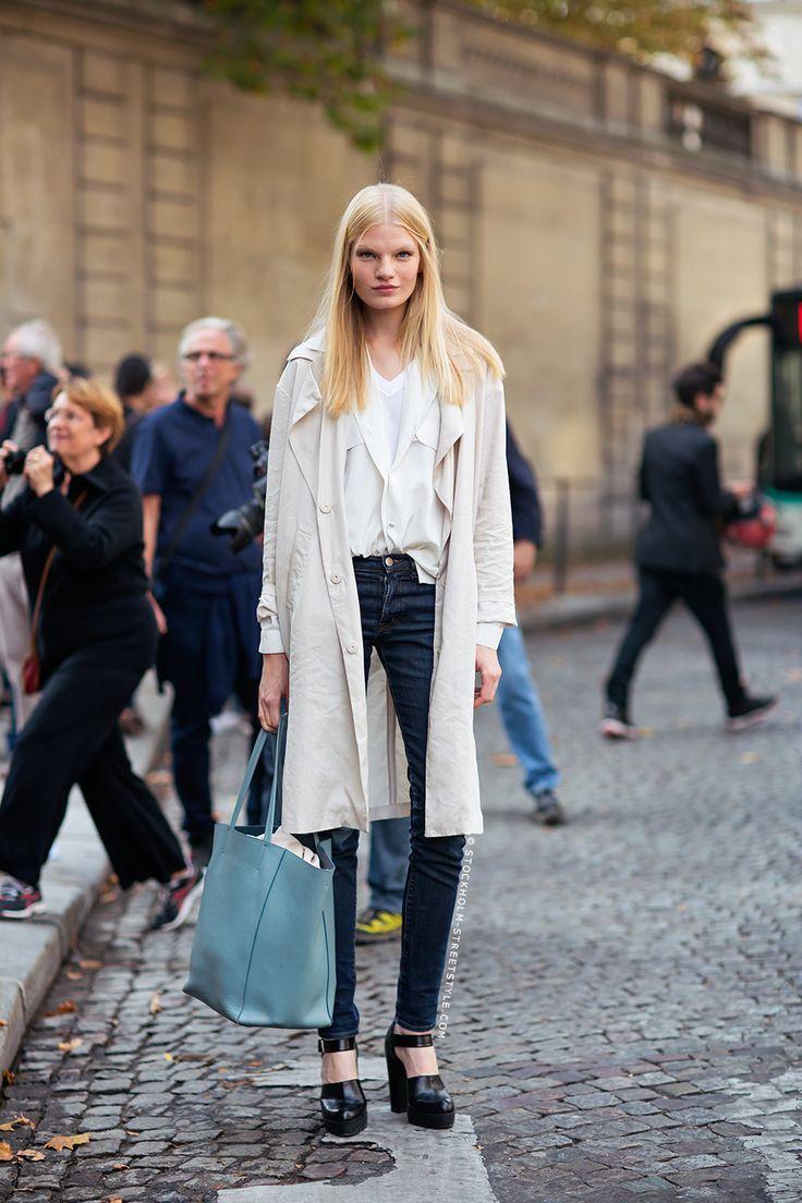 duster jacket. #EleonoraBaumann #offduty in Paris.