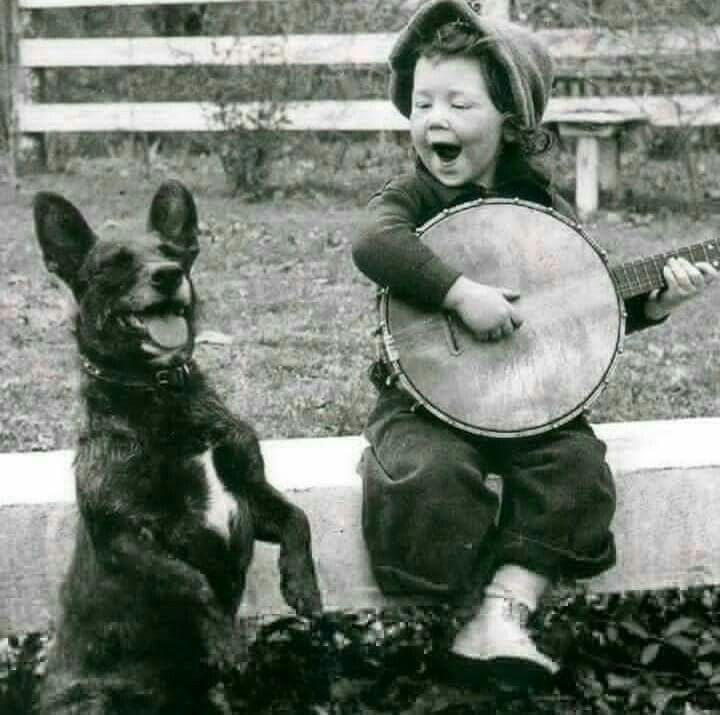 Happiness, singing a song with your best friend.