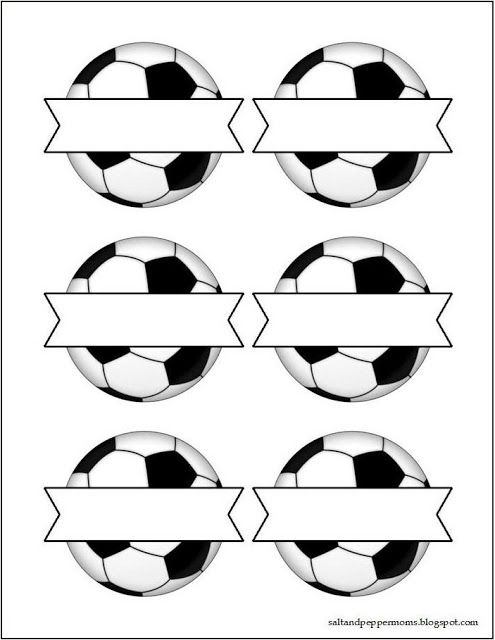 Salt and Pepper Moms: Soccer Snack Tag Printables also Valentine printables, adjust to 75% or 85%
