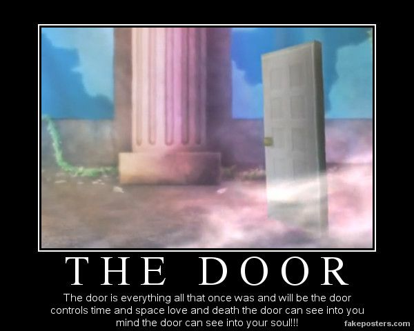 Charlie: r-really? The-the door can do all that   Pink unicorn: heh no its just a door