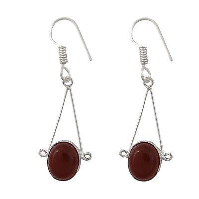 Oval Carnelian Stone Fashion Silver Plated Dangle Earring Buy Online Jewellery | eBay