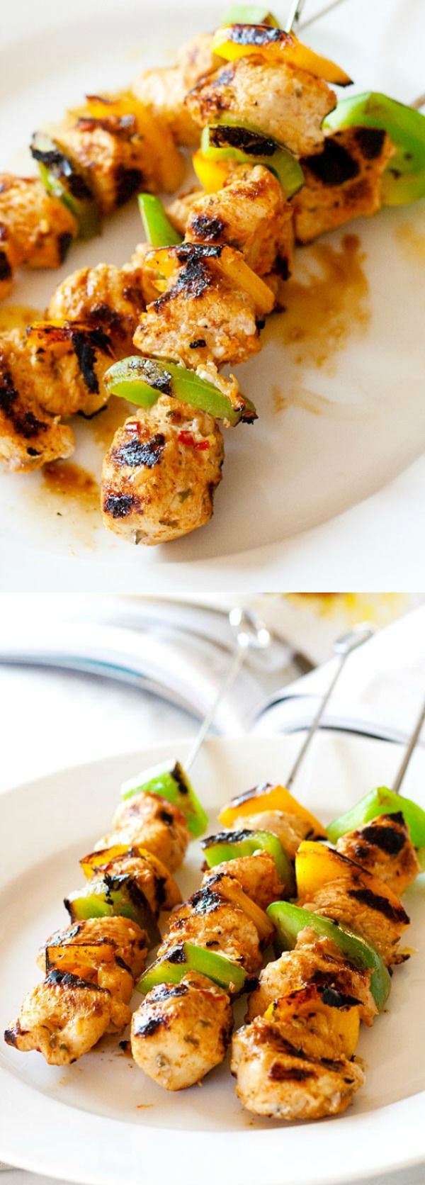 Chicken kebab - marinated with olive oil, lemon juice, cumin and paprika, this chicken kebab recipe is the BEST | rasamalaysia.com