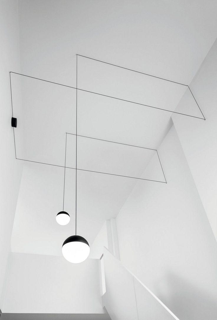 LED Pendelleuchte STRING LIGHT - KUGELKOPF by FLOS | Design Michael Anastassiades